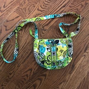 Vera Bradley's Lime's Up Crossbody Hand Bag Green
